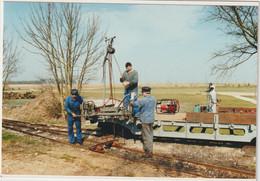 Dav :  Loiret : PITHIVIERS Le  Vieil :  Train - Cheminot : Moto-trefonneuse ( Photo Alain Lesaux) - Pithiviers