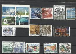 SUEDE 2011 à 2014 17 Timbres Oblitérés SWEDEN - Used Stamps