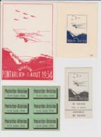 25 – PONTARLIER AVIATION 1934 Et 1930 – Lot Comprenant Une Carte Postale Du Meeting Du 5 Aout 1934 (Neuve) - Pontarlier