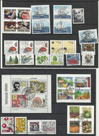 SUEDE 2008 40 Timbres + 1 BF Oblitérés SWEDEN - Used Stamps