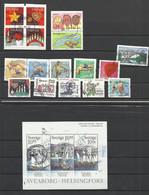 SUEDE 2006 20 Timbres Oblitérés SWEDEN - Used Stamps