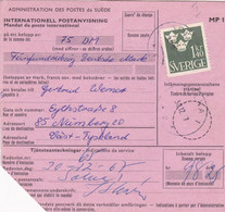 SUÈDE. INTERNATIONELL POSTANVISNING, MANDAT DE POSTE INTERNATIONAL. ANNEE 1968, SOLNA A NURNBERG.- LILHU - Unclassified
