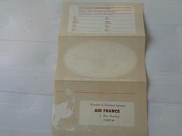 ANCIEN DEPLIANT Des Appreciations  AIR FRANCE .annees  60 - Collezioni