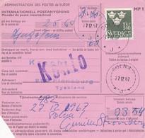 SUÈDE. INTERNATIONELL POSTANVISNING, MANDAT DE POSTE INTERNATIONAL. ANNEE 1967, SOLNA A FLENSBURG.- LILHU - Unclassified