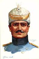 Armée Serbe, Officier. Dessin D'Emile Dupuis - Reggimenti