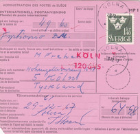 SUÈDE. INTERNATIONELL POSTANVISNING, MANDAT DE POSTE INTERNATIONAL. ANNEE 1967, SOLNA A KOLN PSCHA.- LILHU - Unclassified