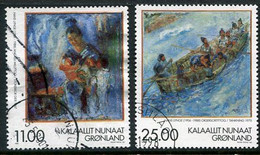 GREENLAND 1998 Paintings By Hans Lynge Used.  Michel 325-26 - Gebraucht
