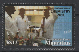 Maurice 2011 Année Internationale De La Chimie Mauritius 2011 International Year Of Chemestry - Mauricio (1968-...)