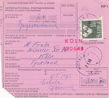 SUÈDE. INTERNATIONELL POSTANVISNING, MANDAT DE POSTE INTERNATIONAL. ANNEE 1967, MOTALA A KOLN PSCHA.- LILHU - Unclassified