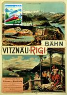 Maximumkarte 2021 Rigi Bahnen Jubiläum / 150 Years Rigi Railways / 150 Ans Des Chemins De Fer Du Rigi - Maximumkarten (MC)