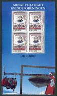 GREENLAND 1998 Women's Association Block MNH / **.  Michel Block 15 - Ungebraucht