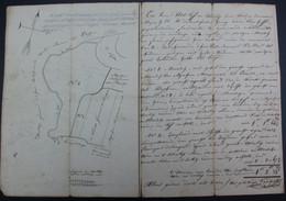 OUDENAARDE / MELDEN OPMETING IN 1825 VAN MEERSCHEN EN LAND DOOR LANDMETER VAN HUFFEL - ZIE AFBEELDINGEN - Documenti Storici