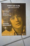 """Partition Gerad Lenorman """"voici Les Cles""""-Gerard Lenorman  En Photo  En Une De La Partition - Altri"""