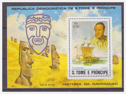 0435 Tome E Principe 1982 Thor Heyerdahl S/S MNH - Barche