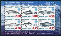 GREENLAND 1998 Whales III Block MNH / **.  Michel Block 14 - Ungebraucht