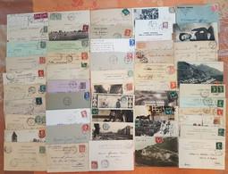 France - Lot De 50 Lettres Et Cartes Postales - CACHETS FERROVIAIRES - DEPART 1 EURO - Posta Ferroviaria