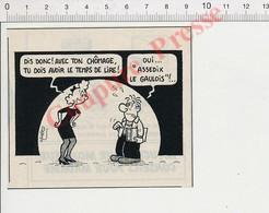 2 Vues Humour Presse Chômeur Chômage Assedic Assédix Lecture Album Astérix Le Gaulois + Métier Plombier 198PF54 - Non Classificati