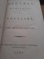 Mélanges Littèraires 3 Tomes VOLTAIRE Société Littèraire-typographique 1785 - Altri