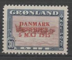 GREENLAND DENMARK 1945, Mi# 22I, Animals, MH - Ungebraucht