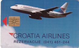 CROATIA - Croatia Airlines, 10/93, Used - Croatia