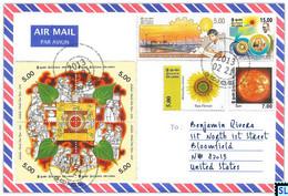 Sri Lanka Stamps, Sun, Space, Solar, Personalized Cover - Sri Lanka (Ceylon) (1948-...)