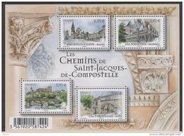 BLOC FEUILLET LES CHEMINS DE SAINT JACQUES DE COMPOSTELLE - Mint/Hinged