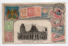 - CPA TIMBRES - Ciudad Juarez Mex - Custum House - 1908 - - Stamps (pictures)