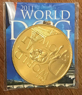 92 ROISY 2011 WORLD DOG SHOW  AB AVEC ENCART MÉDAILLE ARTHUS BERTRAND JETON TOURISTIQUE MEDALS TOKENS COINS - 2011