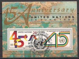 UNO  New York  (1990)  Mi.Nr.  Block 11  Gest. / Used   (4bl-02.02) - Blocks & Sheetlets