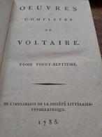 Mélanges Historiques 2 Tomes VOLTAIRE Société Littéraire-typographique 1785 - Altri