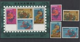 Bahamas 1974 MiNr. 366/9 + Block 10 - UPU - Postfrisch - MNH - ** - Bahamas (1973-...)