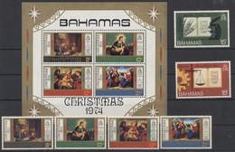 Bahamas 1974 MiNr. 364/5 374/7 + Block 12 - UWI - Weihnachten - Postfrisch - MNH - ** - Bahamas (1973-...)