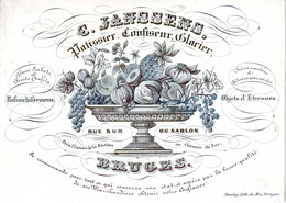 DE 678 - Carte Porcelaine De C. Janssens, Patissier, Confiseur, Glacier, Bruges, Imp. Daveluy - Sin Clasificación