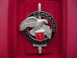 Brevet  COMMANDO    ENTRAINEMENT N° 1   ( DELSART )  ( Translucide , Argenté ) - Army