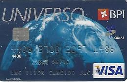 PORTUGAL - UNIVERSO - BPI - VISA (Galp/Modelo/Continente) - Carte Di Credito (scadenza Min. 10 Anni)