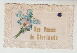Puy De Dôme Une Pensée De CLERLANDE Carte Gaufrée Avec Découpis 1909 - Autres Communes