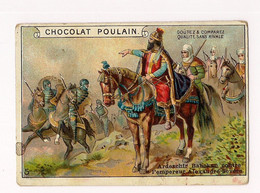 CHROMO GAUFFRE  CHOCOLAT POULAIN - HISTOIRE ROMAINE -   Ardeschir Babekan Contre L'empereur... (6ème Série) - - Poulain