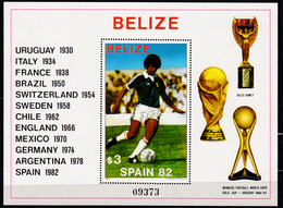 Belize 1982,  621 Block 46,  MNH **,   Football World Cup, ESPANA 1982. - 1982 – Espagne