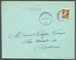 70c. Léopold III Col Ouvert Obl; Sc DINANT 8-VII-1942 Sur Lettre En Provenance De DENEE MAREDSOUS (cachet Ferroviaire D - Otros