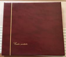CLASSEUR ALBUM SAFE BORDEAUX POUR CARTES POSTALES + 15 FEUILLES SAFE - Non Classificati