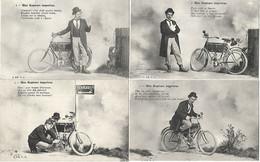 Moto 1904 Précurseur Série Complète De 6 Cartes Une Rupture Imprévue - Motorbikes