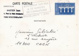 Frankrijk : Briefkaart ( Gelopen ) Met Europazegel Van 1984 ! - Paketmarken