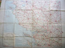 Grande Carte Taride De La Vendée 90 X 70 Cm Pour Automobilistes & Cyclistes - Roadmaps