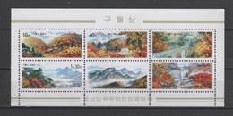 (SS153) NORTH KOREA, 2001 (Kuwol Mountains). Souvenir Sheet. Mi ## 4468-4472 (Block 495). MNH** - Korea, North