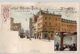 07 04 W X//  NURNBERG   GASTHOF MEISZER BAHN 1910?? - Non Classificati