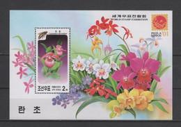 (SS154) NORTH KOREA, 2001 (World Stamp Exhibition Philanippon '01. Orchids) Souvenir Sheet. Mi # 4481 (Block 497). MNH** - Korea, North