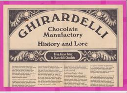 262154 / Advertising Menu - GHIRARDELLI Chocolate Manufactory , Soda Fountain & Candy Shop Los Angeles, CA USA - Menus