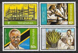 Tanzanie N° 191/94 Yvert  NEUF * - Tanzania (1964-...)