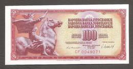 Jugoslavia - Banconota Non Circolata FdS Da 100 Dinari P-90b - 1981 #19 - Yugoslavia