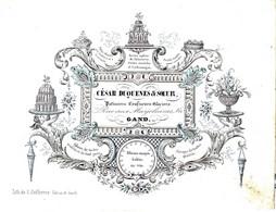 DE 682 - Carte Porcelaine De Cesar Duquenes & Soeur, Patissiers, Confiseurs Glaciers, Gand, Imp. L. Defferrez - Sin Clasificación